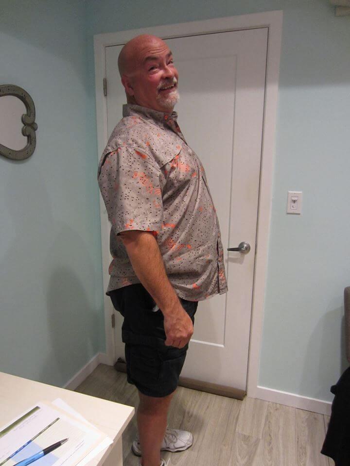 Gary's before photo